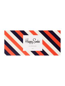 Happy Socks 4 Pair Pack Stripe and Spot Gift Box