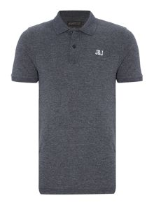 Jack & Jones Cotton-Blend Logo Short-Sleeve Polo Shirt