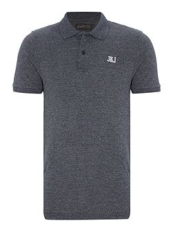 Cotton-Blend Logo Short-Sleeve Polo Shirt
