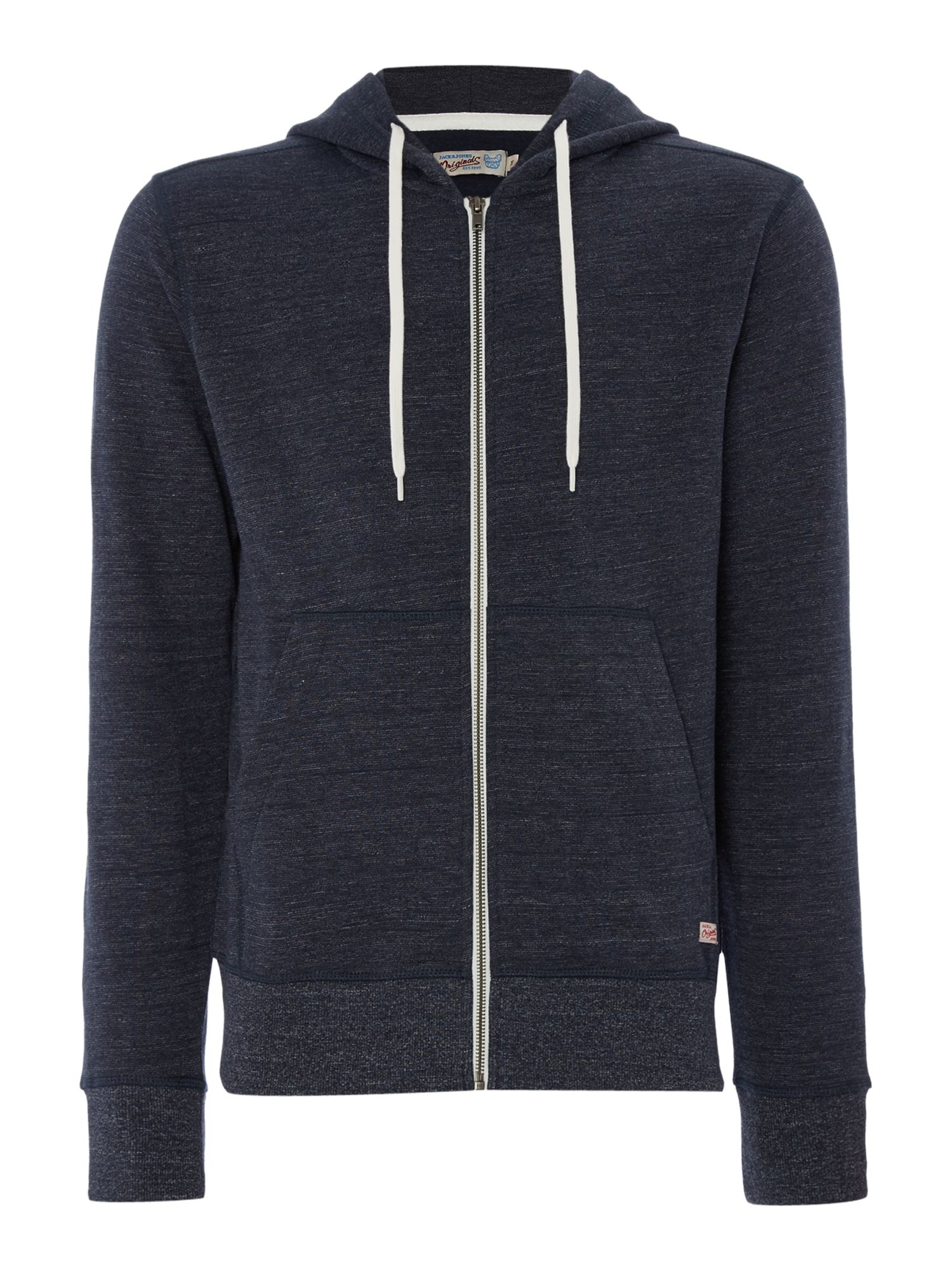 Men's Jack & Jones Hooded Zip-Through Jumper, Blue