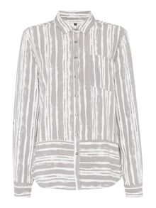 Maison De Nimes Cliff Brushed Stripe Shirt
