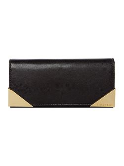 Know metal corner flapover purse