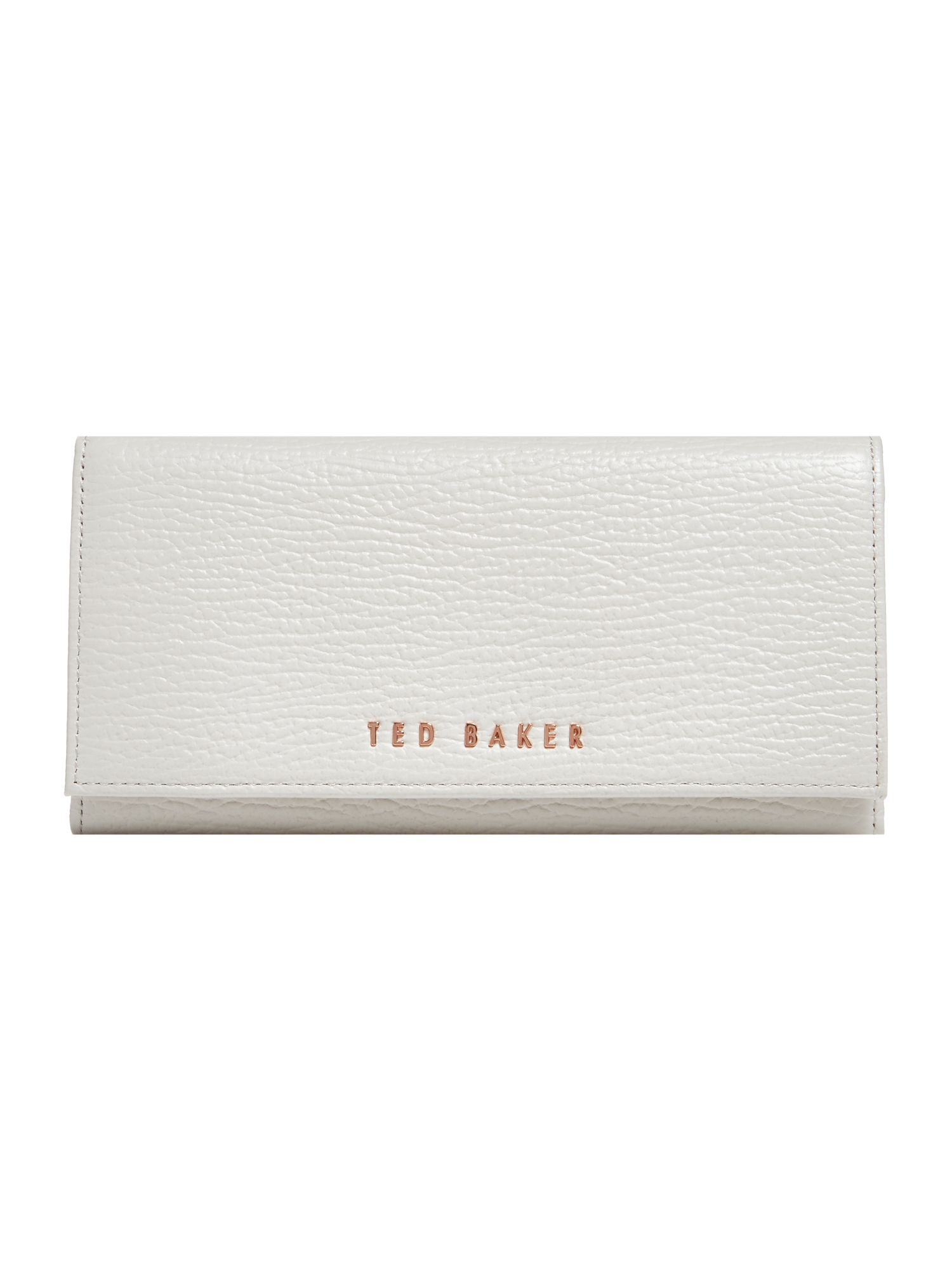 Ted Baker Raelee large stitch flapover purse Grey