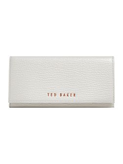 Raelee large stitch flapover purse