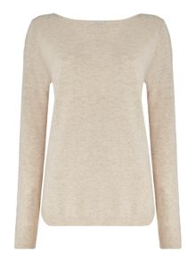 Repeat Cashmere Round hem rouch neck jumper