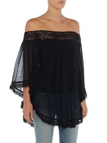 Denim and Supply Ralph Lauren Bardot floaty blouse