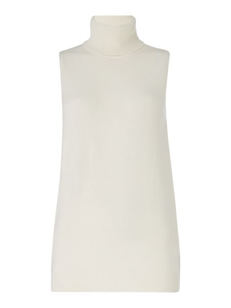 Repeat Cashmere Sleeveless roll neck jumper