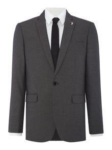 Farah Pullman Houndstooth Skinny Fit Jacket
