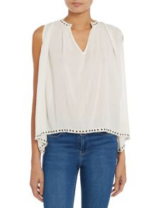 Denim and Supply Ralph Lauren Sleeveless floaty blouse
