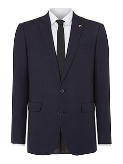 Tarling Micro Weave Skinny Fit Notch Lapel Jacket
