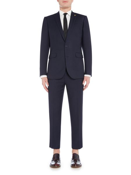 Farah Tarling Micro Weave Skinny Fit Notch Lapel Jacket