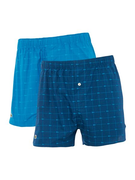 Lacoste 2 Pack Authentic Signature Woven Boxers