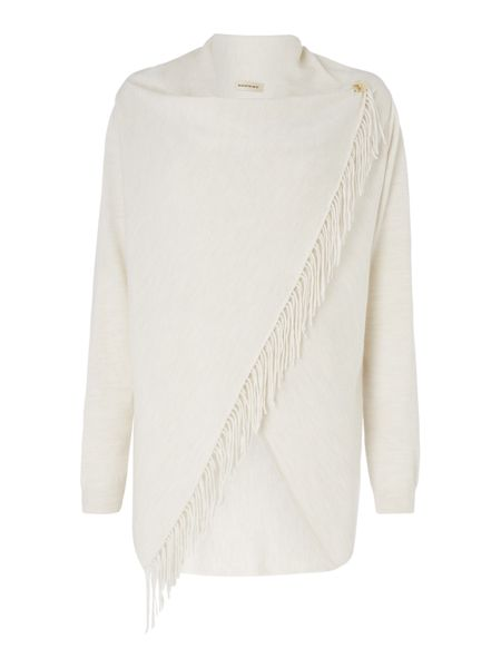 Repeat Cashmere Fringed wrap cardigan