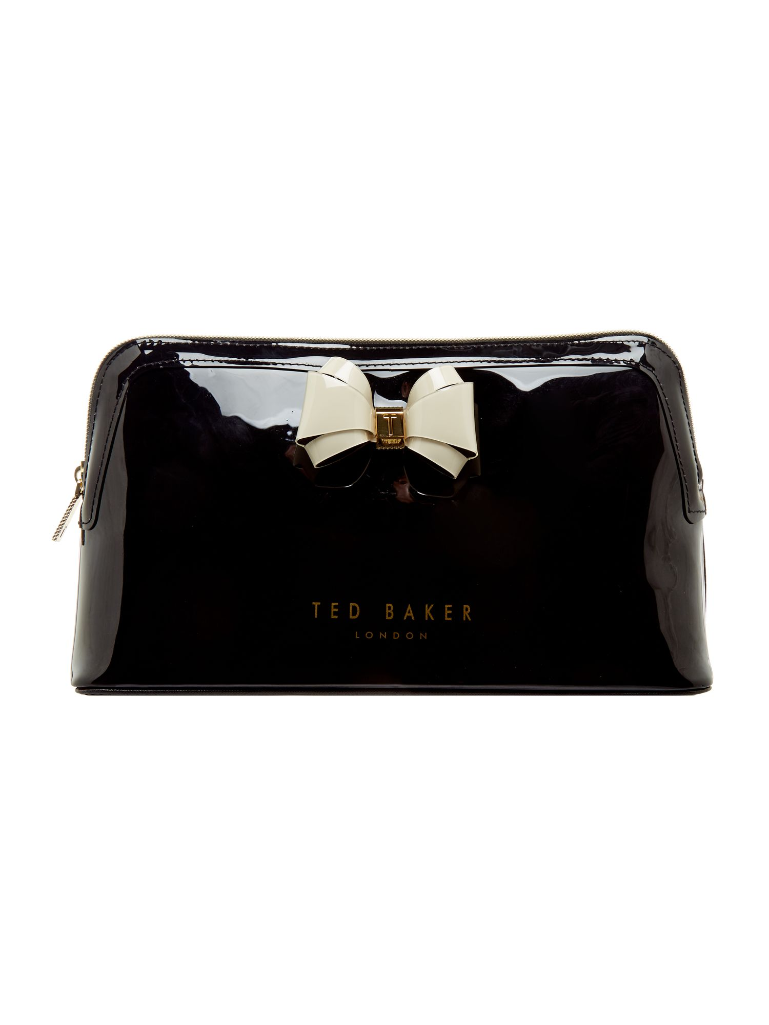 Ted Baker Abbie large bow cosmetic bag Black