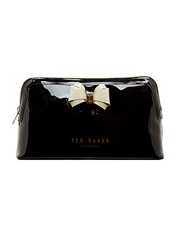 Abbie large bow cosmetic bag