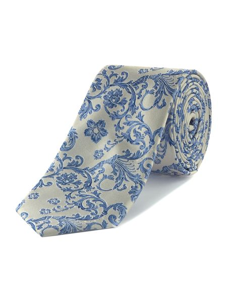 Turner & Sanderson Berkshire Ornate Floral Silk Tie