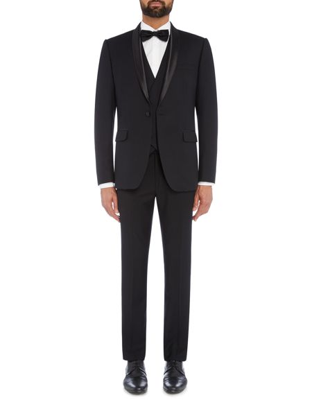 Farah Arnos Fancy Double Breasted Tuxedo Waistcoat