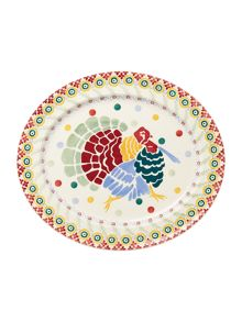 Emma Bridgewater Polka turkey oval platter boxed