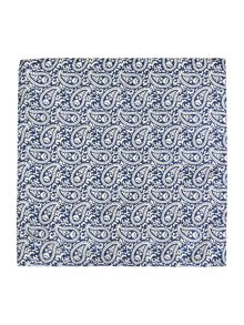 Corsivo Castello Italian silk Printed Pocket Square