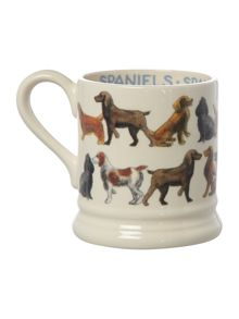 Emma Bridgewater All over spaniel 1/2 pint mug boxed