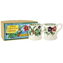 Emma Bridgewater Winter Flowers 2 x 1/2 Pint Mug Box