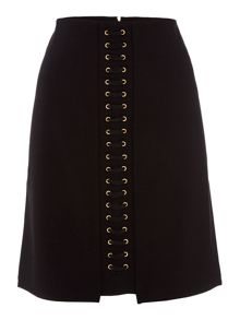 Biba Eyelet detail stretch a-line skirt