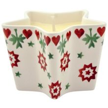 Emma Bridgewater Christmas joy star candle filled