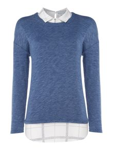 Dickins & Jones Cindy Cuff and Collar Jersey Top
