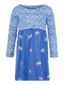 Joules Girl`s Long Sleeve Print Dress
