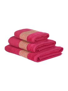 Linea Villa textured border towel