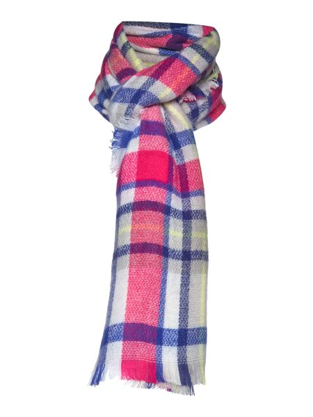 Joules Girls Check Scarf