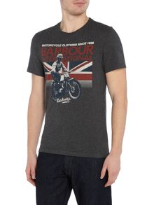 Barbour Short sleeve rider union jack motorcycle tee