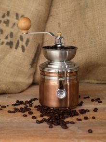 La Cafetiere Origins coffee grinder, copper