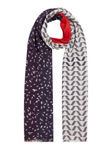 Dickins & Jones Dana mixed block and pattern scarf