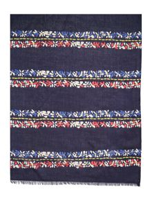 Dickins & Jones Daisy petal stripe scarf