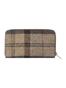 Barbour Wool tartan ziparound purse
