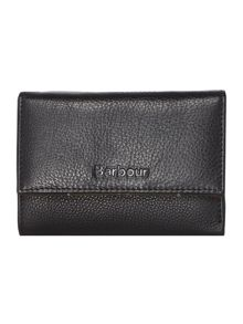Barbour Leather flapover purse