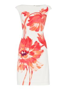 Lauren Ralph Lauren Montague Printed Cap Sleeve Dress