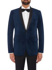 Farah Chillingworth Velvet Skinny Fit Blazer