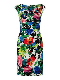 Valli Printed Cap Sleeve Dress