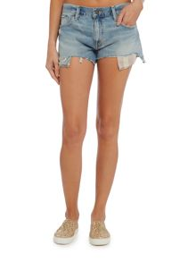 Denim and Supply Ralph Lauren Boyfriend shorts american flag pocket detail