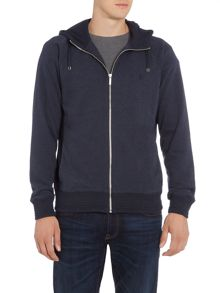 Original Penguin Block Texture Hooded Jumper