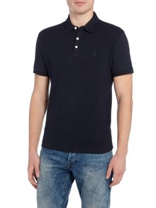 Original Penguin Front Textured Panel Short-Sleeve Polo Shirt
