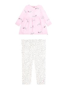 Joules Girls Dalmation Dress and Legging Set