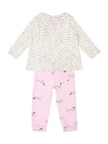 Joules Girls Set Long Sleeve Top Bottom