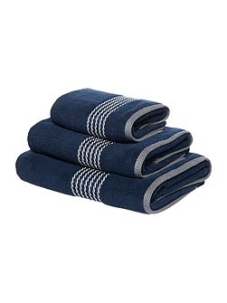 Nautical rope detail border towel