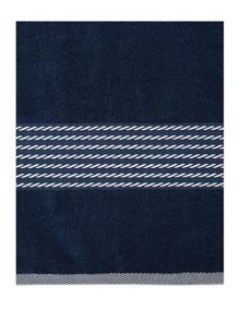 Linea Nautical rope detail border towel