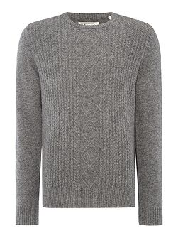 Jersey Crew-Neck Knitted Jumper