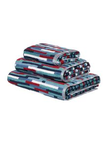 Linea Nautical fragmented stripe towel