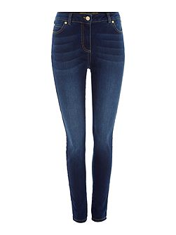 Stevie super stretch skinny jeans in mid wash